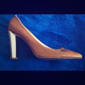 Diane von Furstenberg 3.5 inch heels.